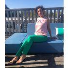 Pantalon met vouw Lucia in Emerald Green van Coster Copenhagen