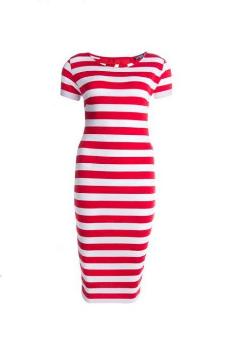 kokerjurk »Gestreepte jurk«