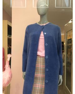 Vest blinde sluiting in blauw van OUI
