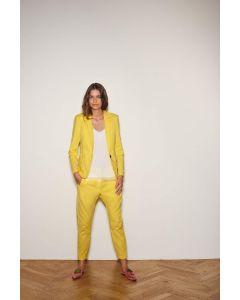 Blazer met rib zijkant  in pineapple geel van Coster Copenhagen