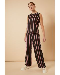 Broek in Tencel print Stripes van Lanius