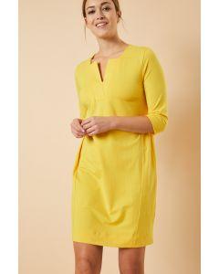 Jurk in sunshine yellow van Lanius