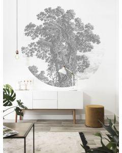 Behangcirkel Engraved Tree van KEK Amsterdam
