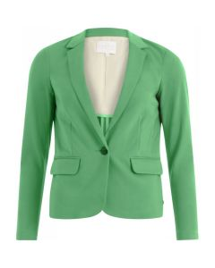 Blazer lang model in kleur Emerald Green van Coster Copenhagen