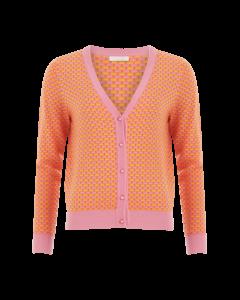 Vest oranje roze seawool katoen van Coster Copenhagen
