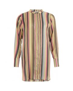 Blouse in multi color print van Coster Copenhagen
