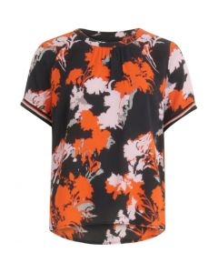 Top in forest print met lurex detail op mouw van Coster Copenhagen