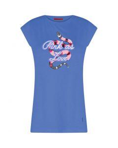T-shirt Sky Blue met slangen opdruk van Coster Copenhagen