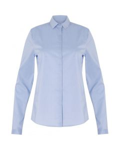 Basic blouse in Oxford Blue van Coster Copenhagen