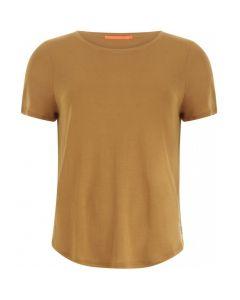T-shirt met korte mouw Camel in Tencel van Coster Copenhagen