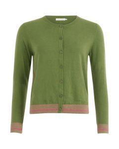 Gebreid vest groen met lurex detail van Coster Copenhagen