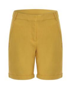 Korte broek met omslag in Gold Spice van Coster Copenhagen