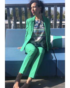 Blazer lang model in kleur Emerald Green van Coster Copenhagen