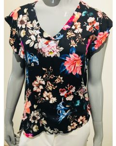 Top met bloemenprint in zwart van Envy Collection