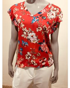 Top met bloemenprint rood van Envy Collection