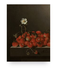Print op hout Glorious Food Strawberries van KEK Amsterdam