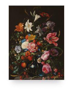 Print op hout Golden Age Flowers 5 van KEK Amsterdam