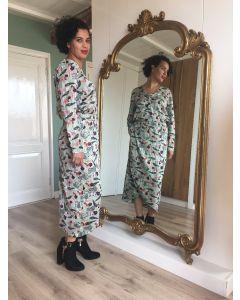 Lange jurk met lange mouw in zebraprint van Coster Copenhagen