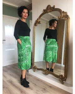 Midirok met palmbladerendessin van Juffrouw Jansen