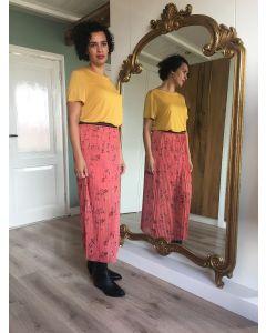 Basic t-shirt ronde hals in Gold Spice van Coster Copenhagen