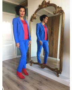 Pantalon met vouw Lucia in Sky Blue van Coster Copenhagen