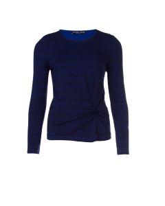 Longsleeve shirt in blauw met schubbendessin van Juffrouw Jansen