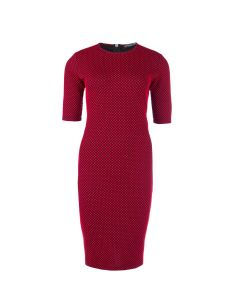 Bodycon jurk Britt in zwart-rood van Juffrouw Jansen