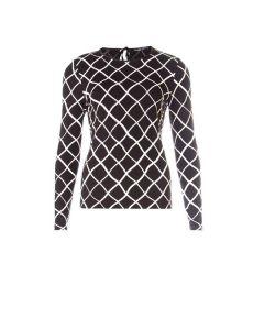 Longsleeve shirt met visnetdessin van Juffrouw Jansen