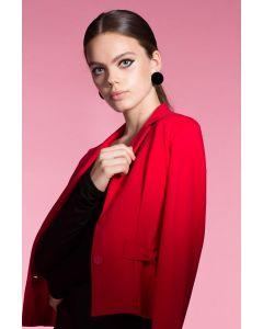 Korte blazer Balou in rood met sierzakken van Juffrouw Jansen