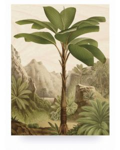Print op hout Banana Tree van KEK Amsterdam