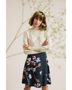 Rok biologisch katoen en Tencel modal met Chinese bloemprint van Lanius