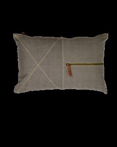 Kussen canvas Zip met rits van Limelight