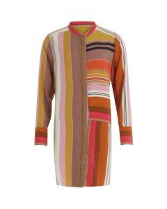 Lange blouse met streep en opstaande kraag van Coster Copenhagen