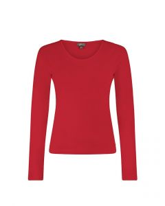 T-shirt met lange mouwen en ronde hals Eleanor tango red van Miss Green