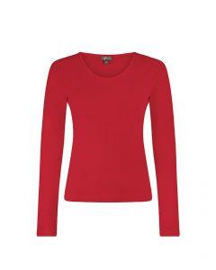 T-shirt met lange mouwen en ronde hals Eleanor tango red van Miss Green
