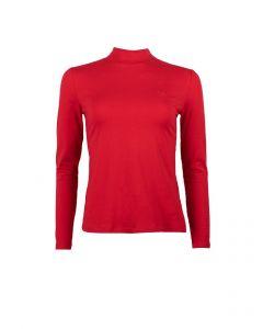 Shirt met colletje Simple The Best in Tango Red van Miss Green