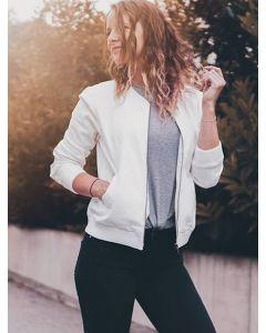 Bomber jacket High Energy white van Miss Green