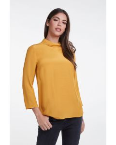 Blouse met col in sunshine yellow van OUI