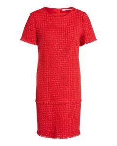Jurk rode tweed van OUI