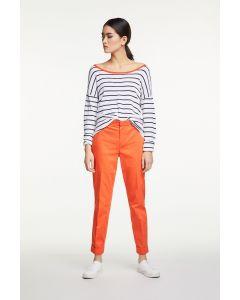 Pantalon in fel oranje van OUI
