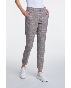 Pantalon smalle pijp met ruitjesmotief van OUI