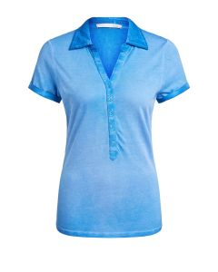 Poloshirt in blauw van OUI