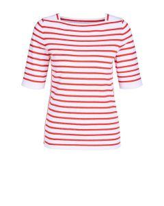 Gestreepte pullover in rood en wit van OUI