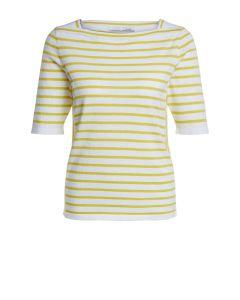 Gestreepte pullover in geel en wit van OUI