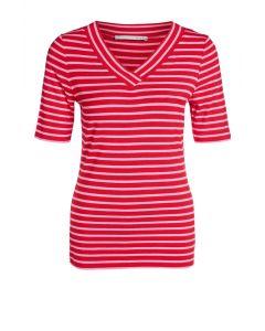 T-shirt strepen roze en rood van OUI