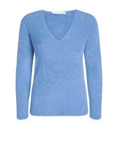 Zachte trui in harig materiaal infinity blauw van OUI