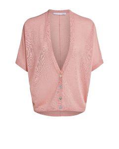 Vest met korte mouw roze van OUI