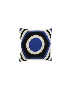 Kussen Summerhouse cirkel blauw van Van Roon Living