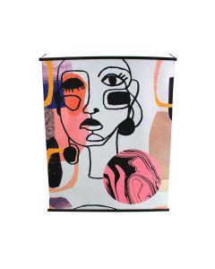 Wandkleed XL met gezicht digitale print